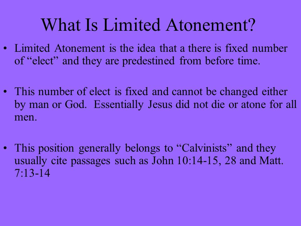What Is Limited Atonement