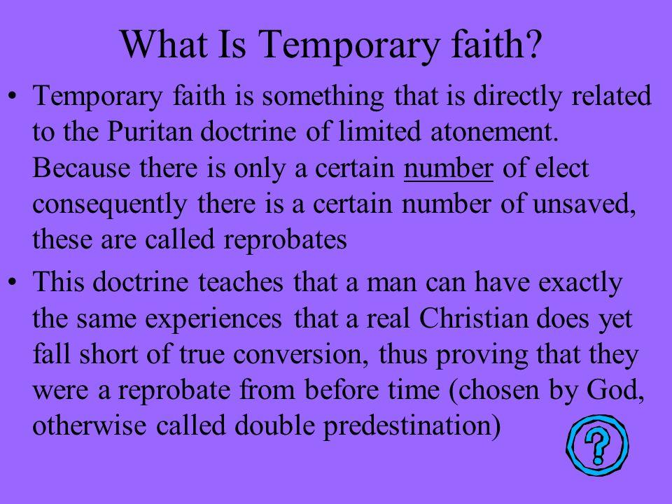 What Is Temporary faith