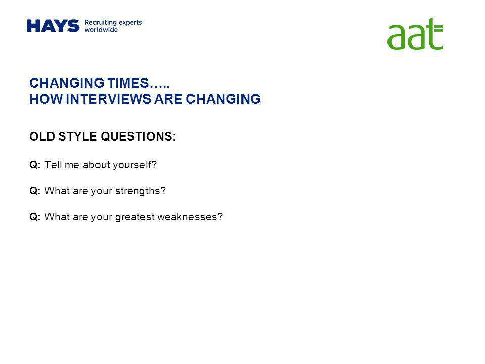 CHANGING TIMES….. HOW INTERVIEWS ARE CHANGING