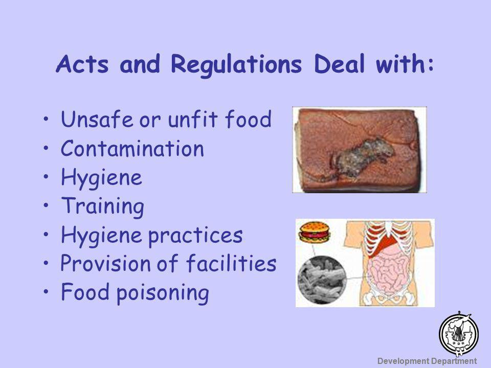 Acts and Regulations Deal with: