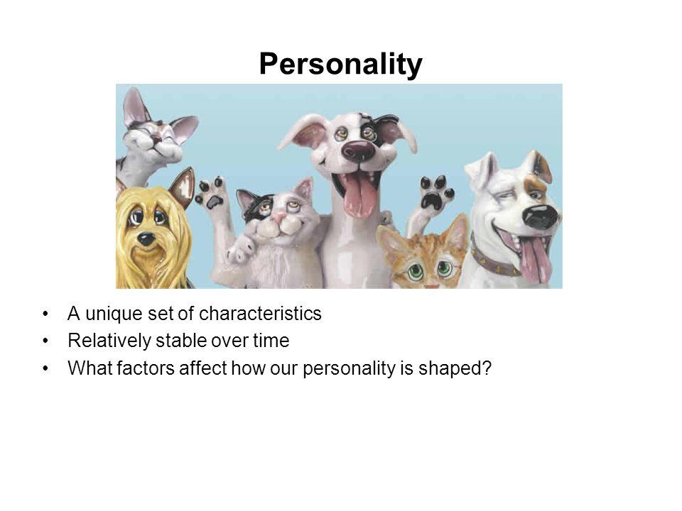 Personality A unique set of characteristics