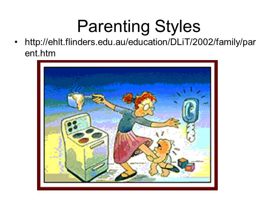Parenting Styles http://ehlt.flinders.edu.au/education/DLiT/2002/family/parent.htm