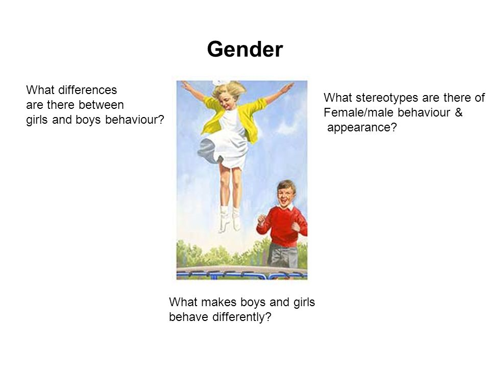 Gender What differences are there between girls and boys behaviour