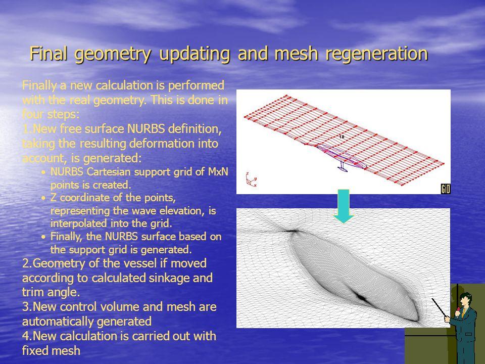 Final geometry updating and mesh regeneration
