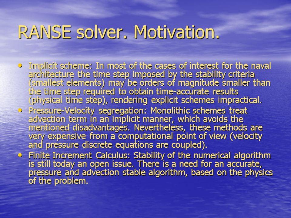 RANSE solver. Motivation.