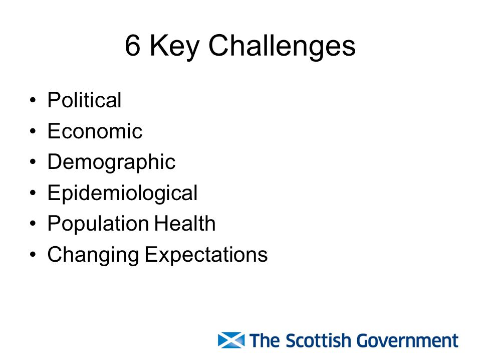 6 Key Challenges Political Economic Demographic Epidemiological