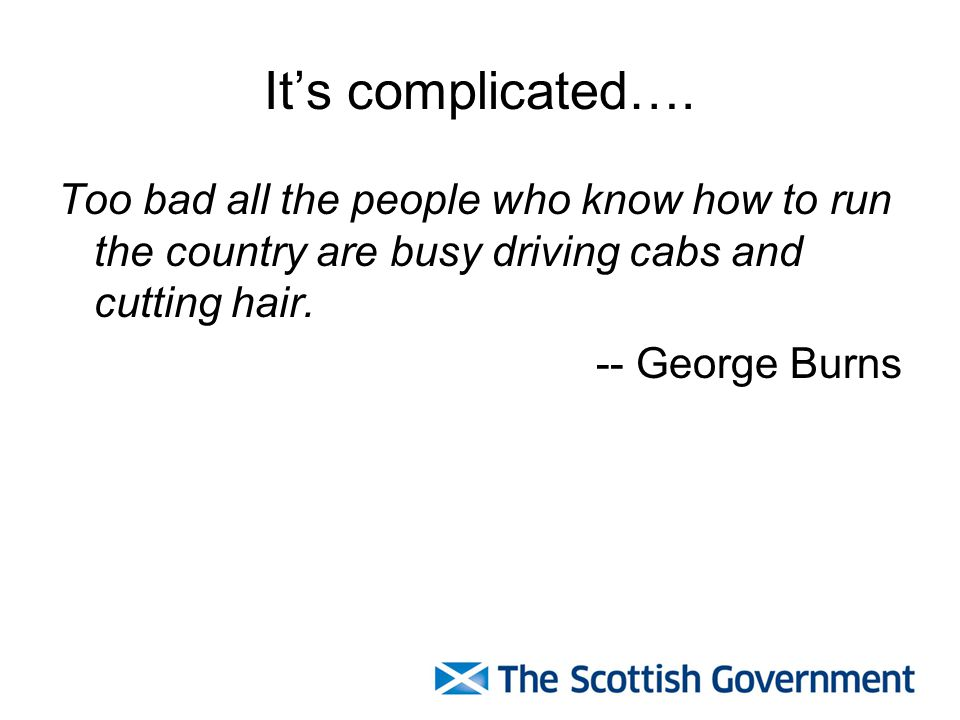 It's complicated…. Too bad all the people who know how to run the country are busy driving cabs and cutting hair.