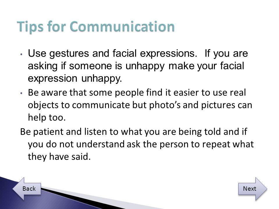 Tips for Communication