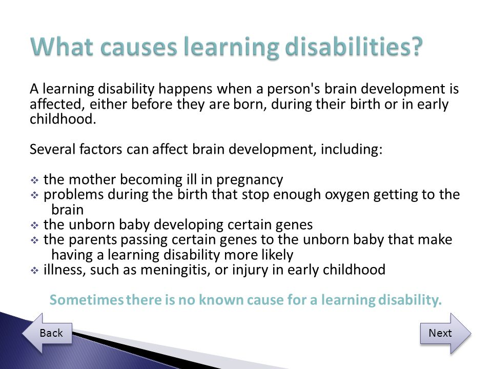 Explain how disability may affect development