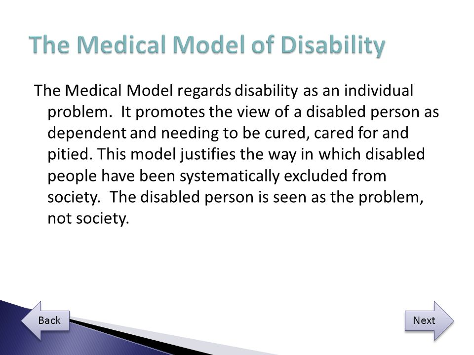 The Medical Model of Disability