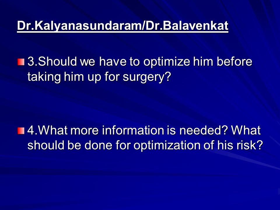 Dr.Kalyanasundaram/Dr.Balavenkat