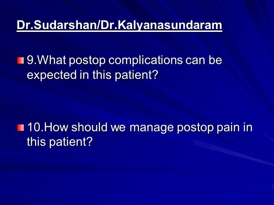 Dr.Sudarshan/Dr.Kalyanasundaram