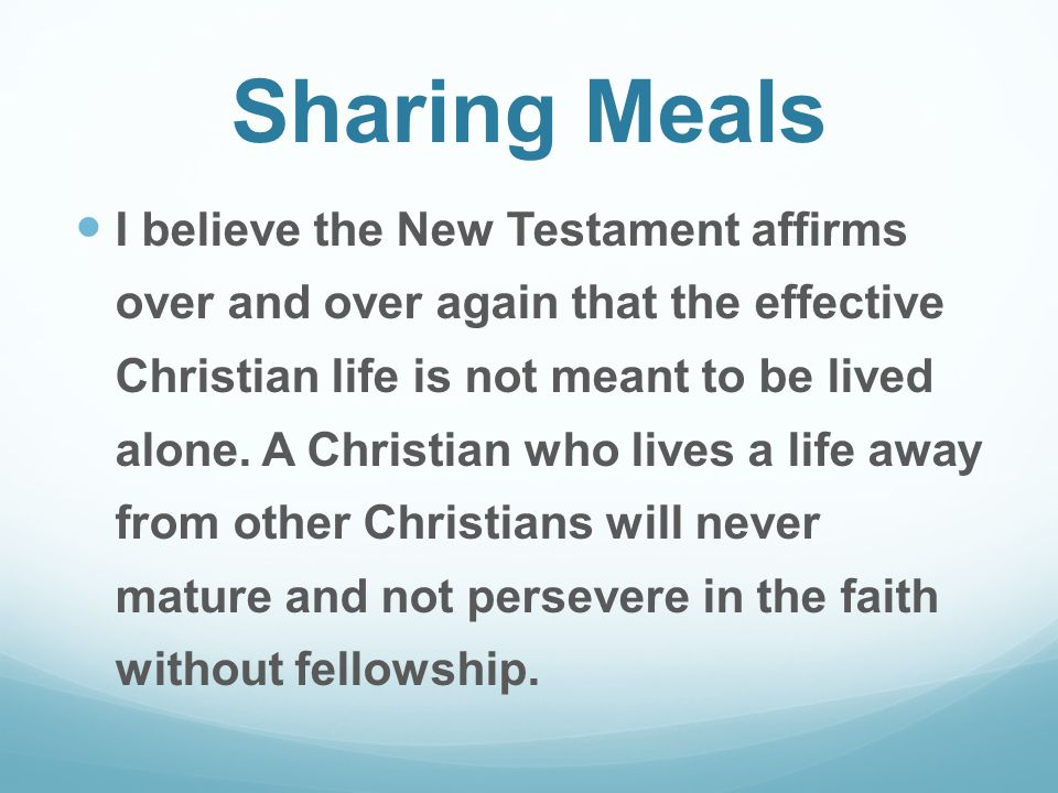 Sharing Meals
