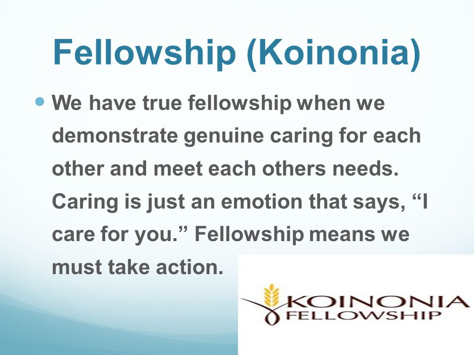 Fellowship (Koinonia)