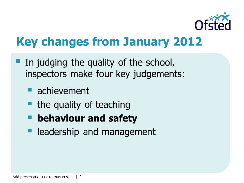Key changes from January 2012