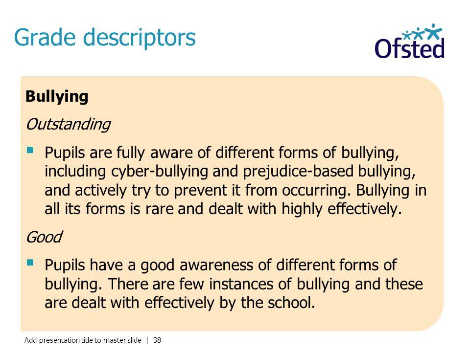 Grade descriptors Bullying Outstanding