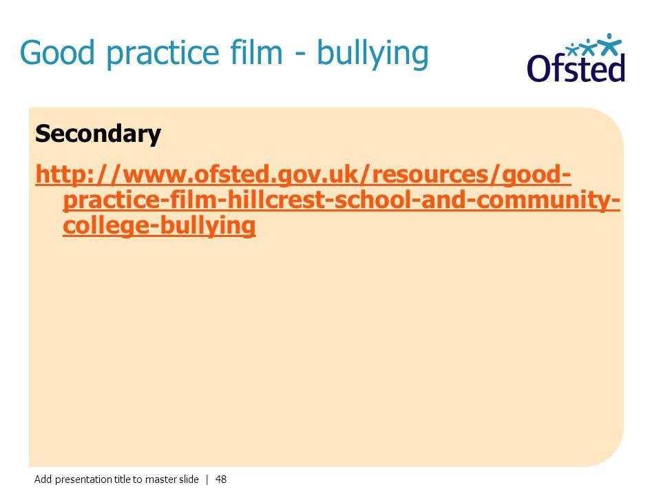 Good practice film - bullying