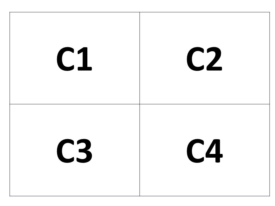 C1 C2. C3. C4.