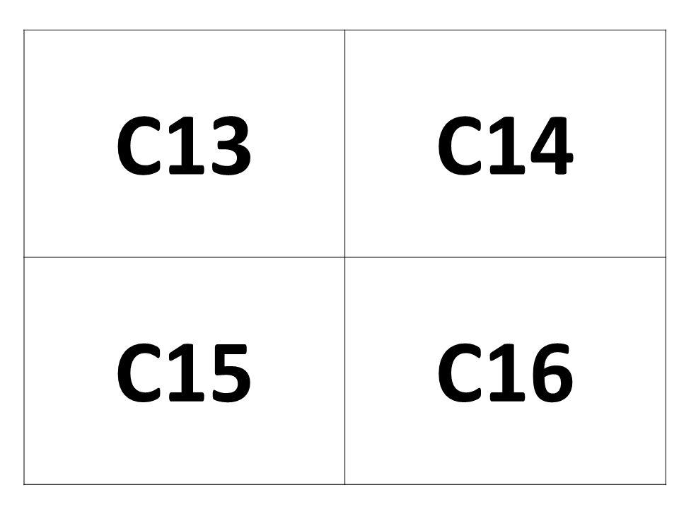 C13 C14 C15 C16