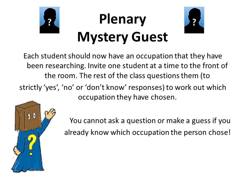 Plenary Mystery Guest
