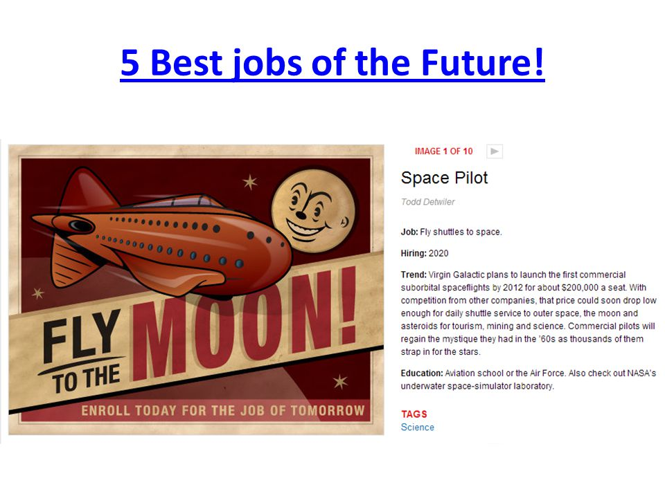 5 Best jobs of the Future!
