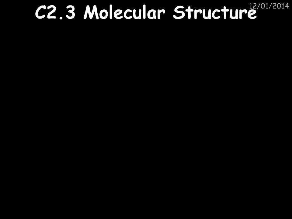 25/03/2017 C2.3 Molecular Structure