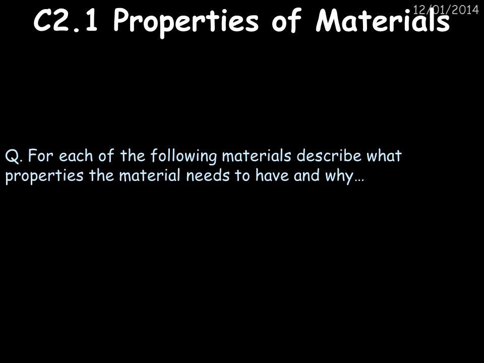 C2.1 Properties of Materials