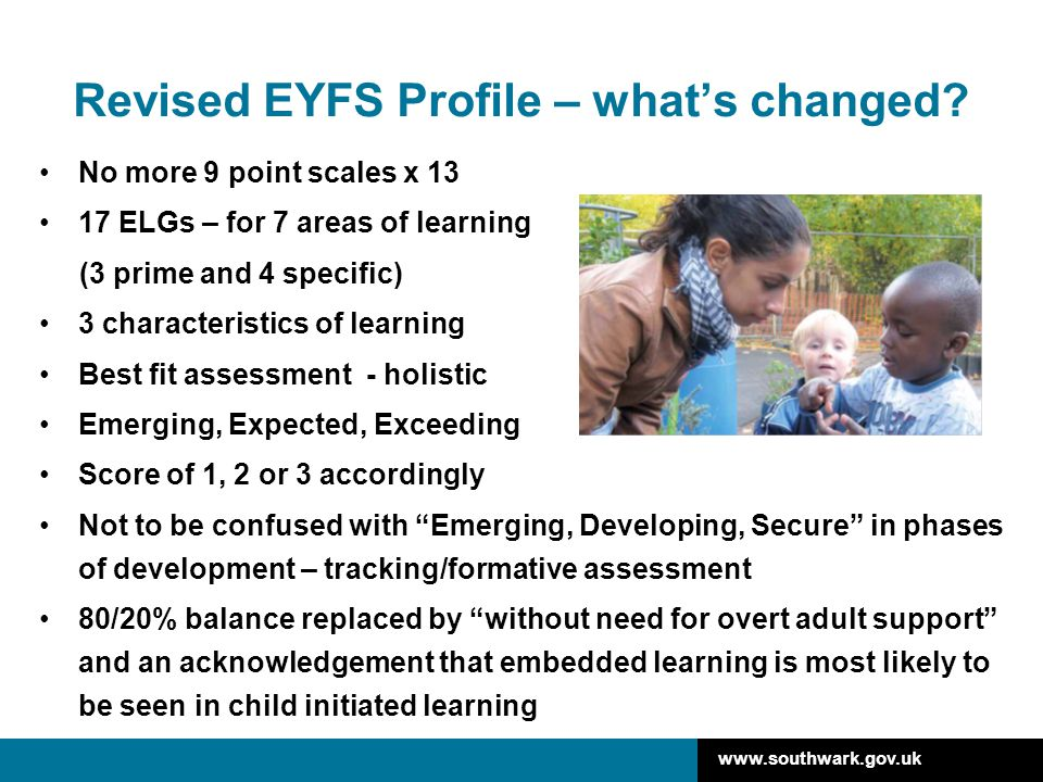 Revised EYFS Profile – what's changed