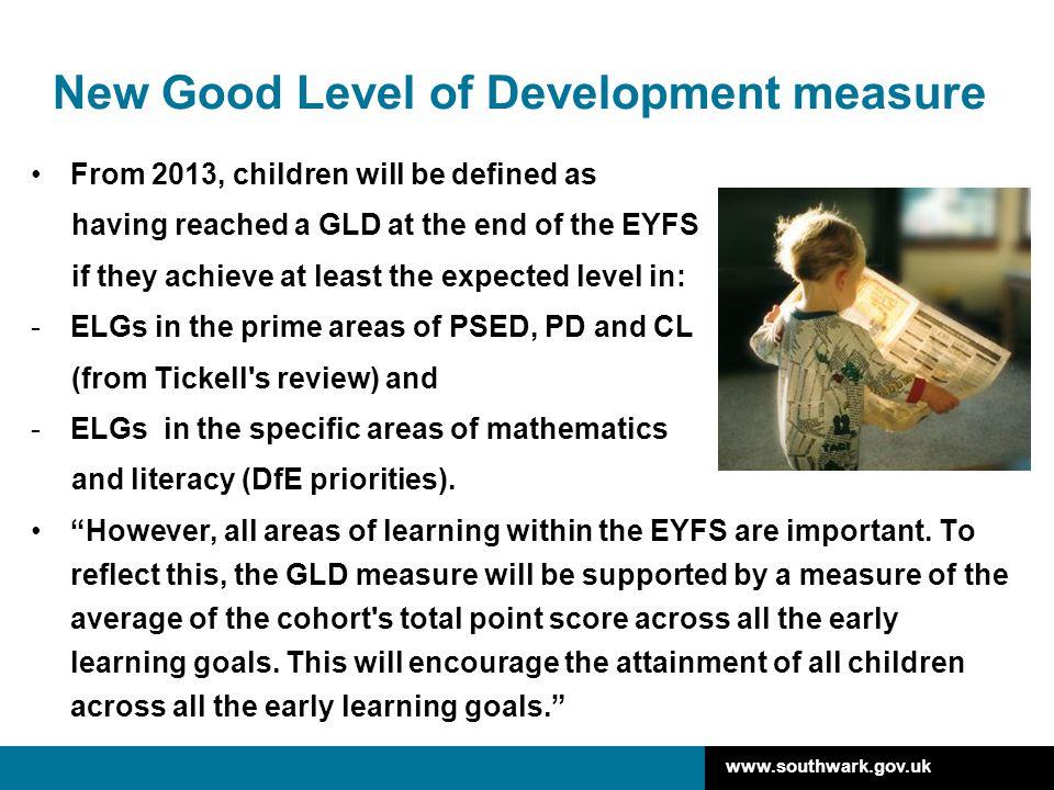New Good Level of Development measure