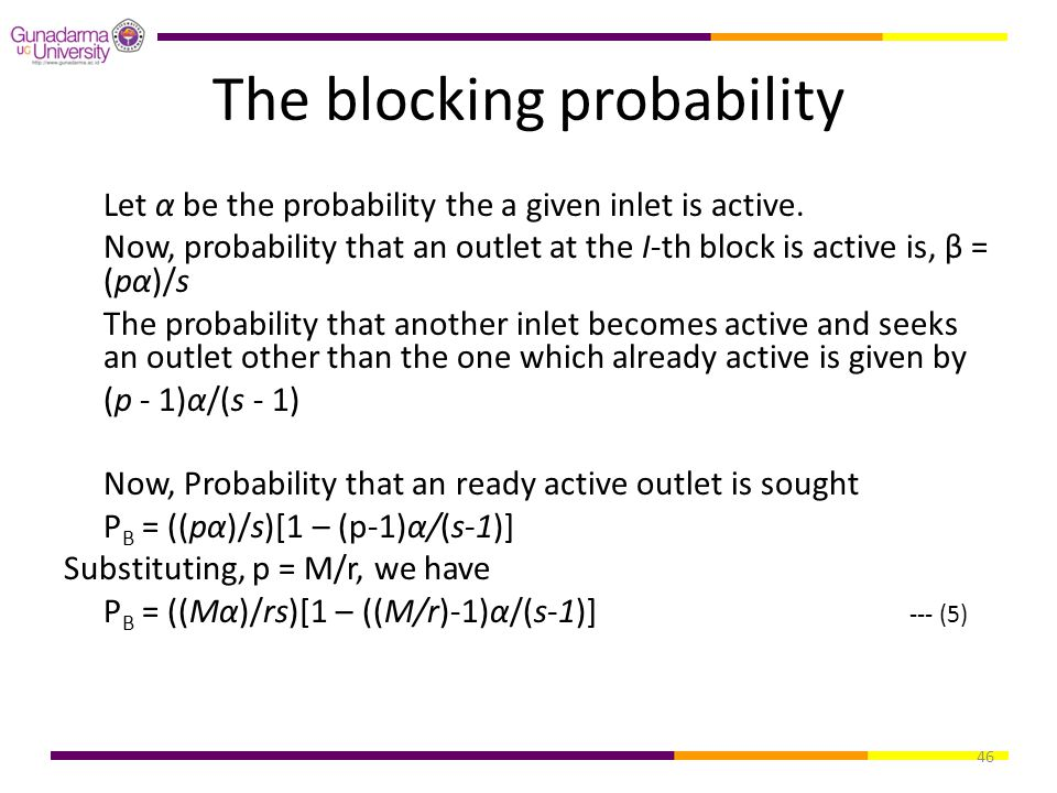 The blocking probability