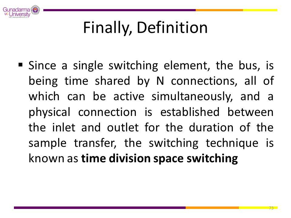 Finally, Definition