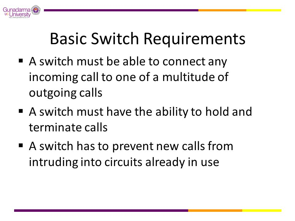 Basic Switch Requirements