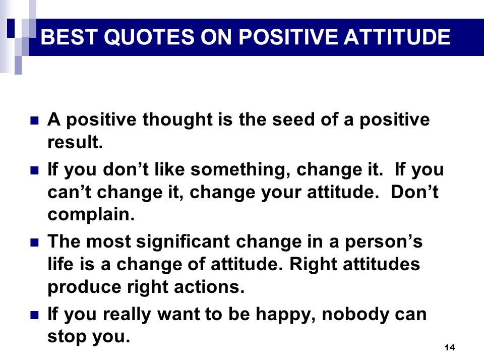 BEST QUOTES ON POSITIVE ATTITUDE