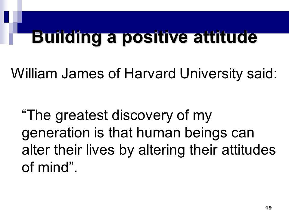 Building a positive attitude