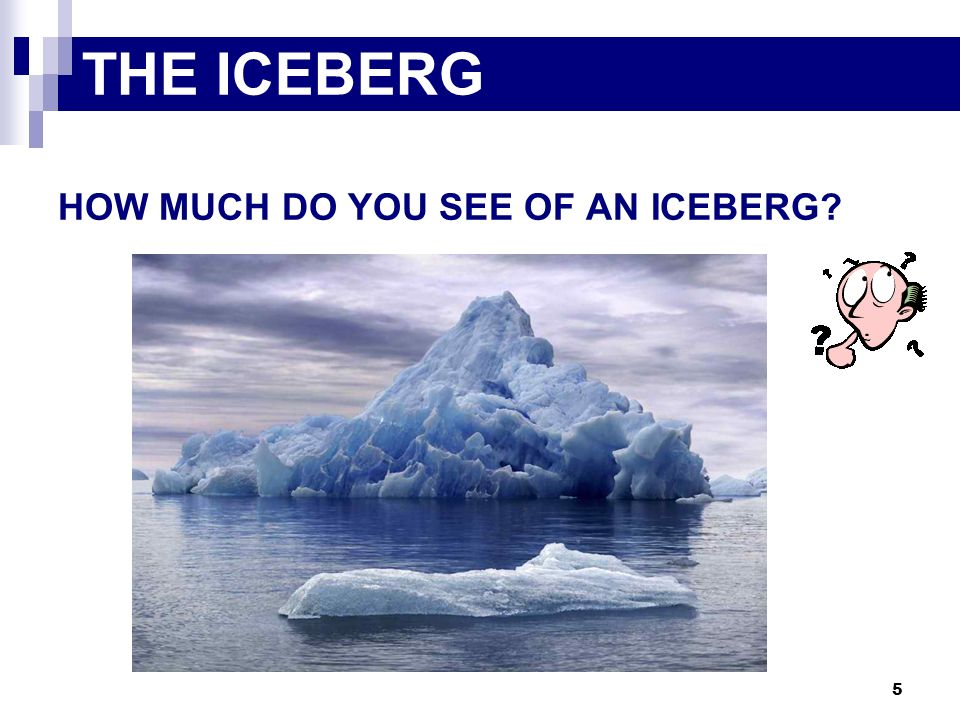 THE ICEBERG HOW MUCH DO YOU SEE OF AN ICEBERG