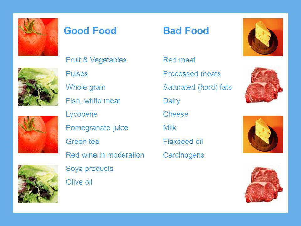 Good Food Bad Food Fruit & Vegetables Pulses Whole grain