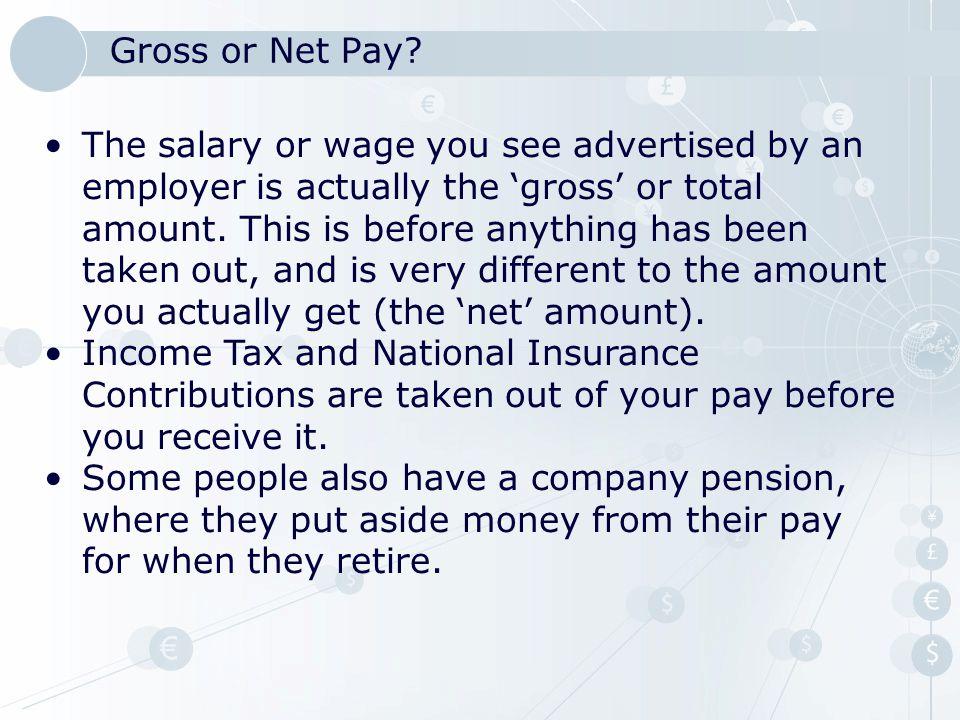 Gross or Net Pay