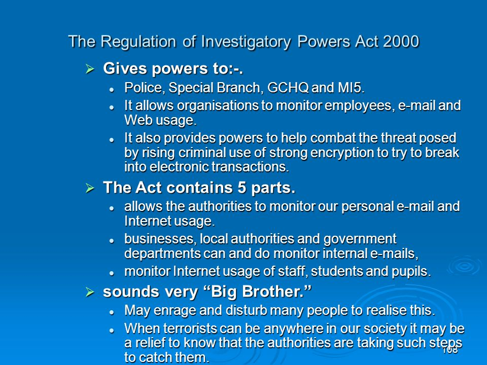 The Regulation of Investigatory Powers Act 2000