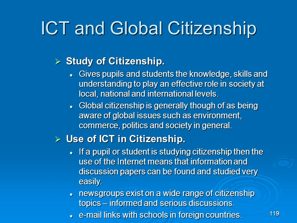 ICT and Global Citizenship