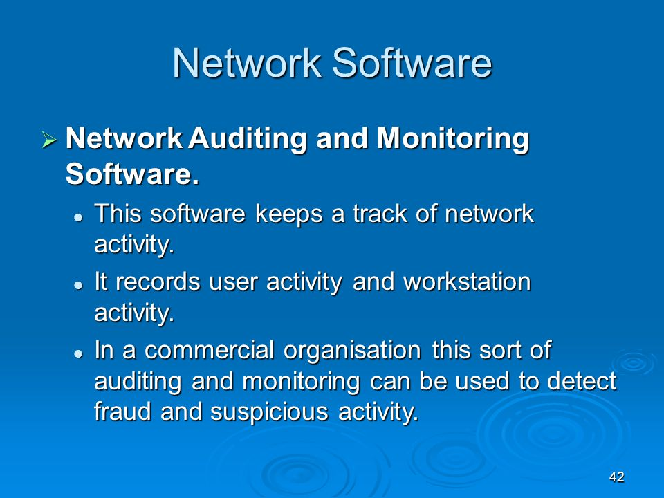 Network Software Network Auditing and Monitoring Software.