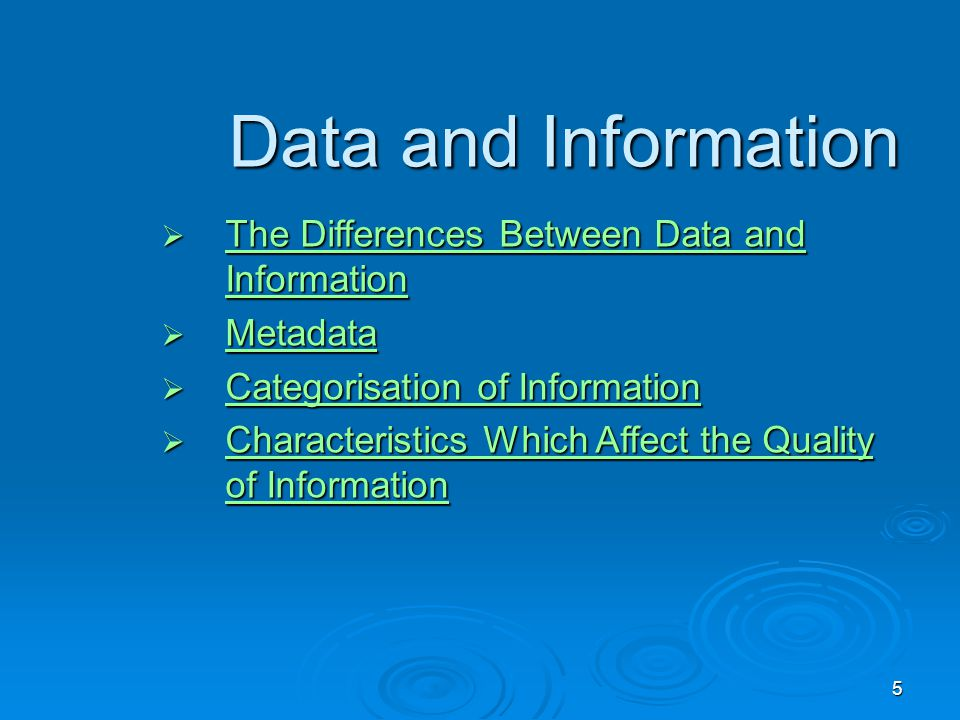 Data and Information The Differences Between Data and Information