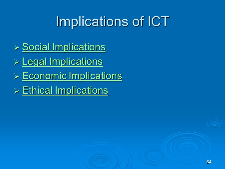 Implications of ICT Social Implications Legal Implications