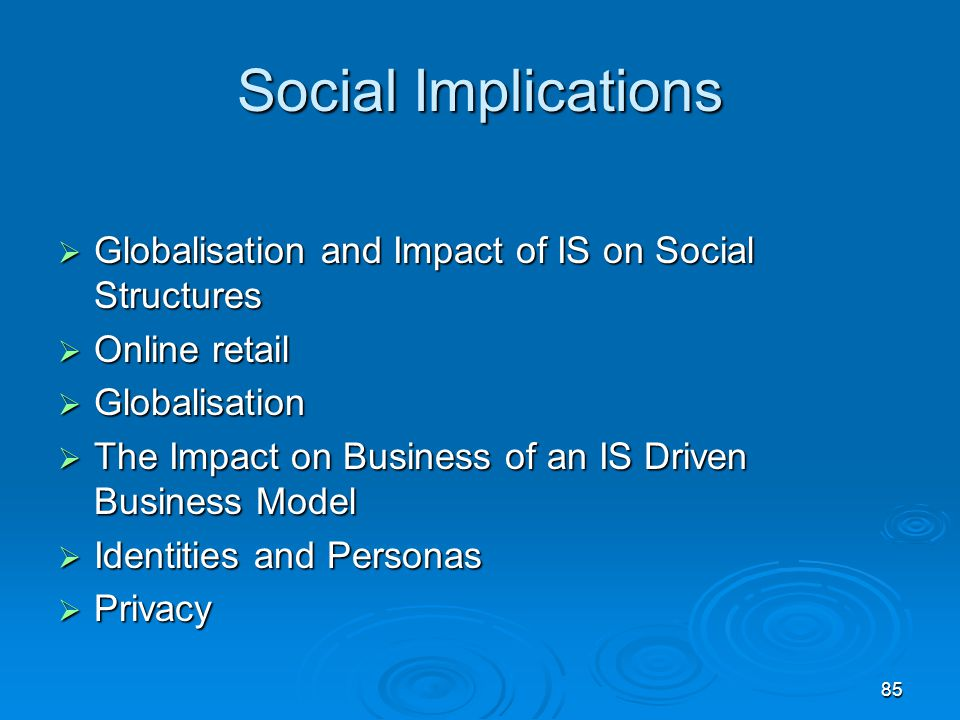 Social Implications Globalisation and Impact of IS on Social Structures. Online retail. Globalisation.