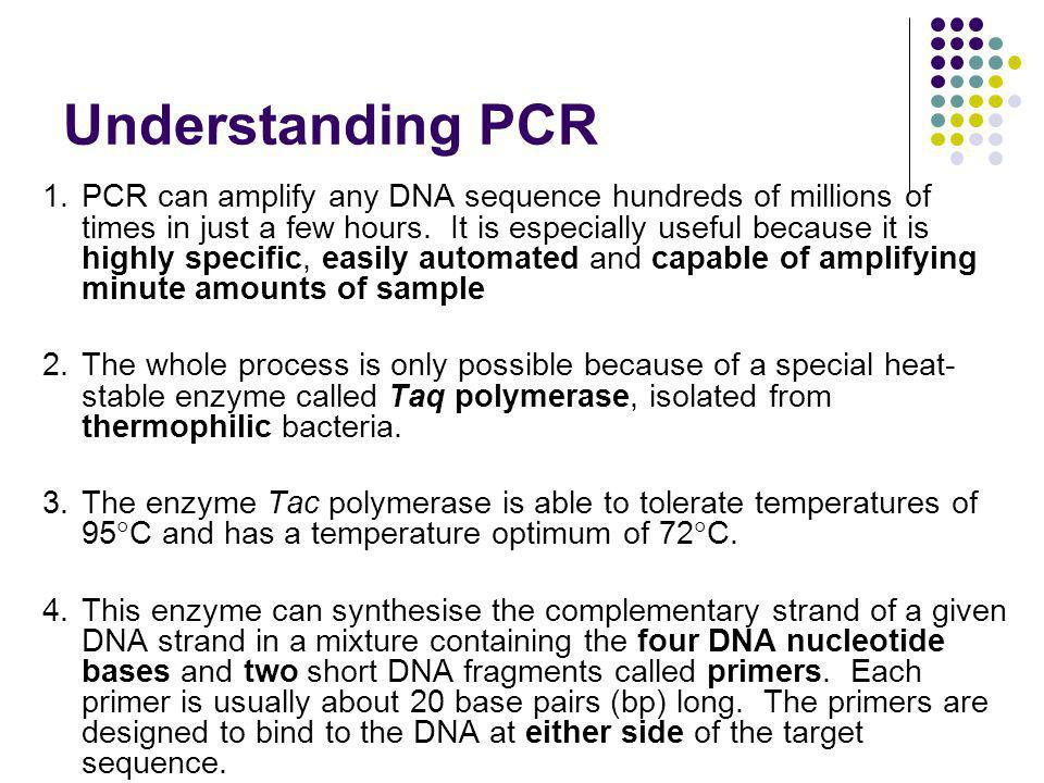 Understanding PCR