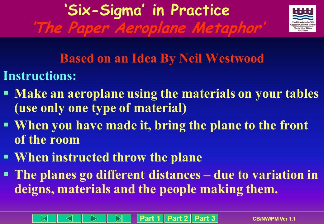 'Six-Sigma' in Practice 'The Paper Aeroplane Metaphor'