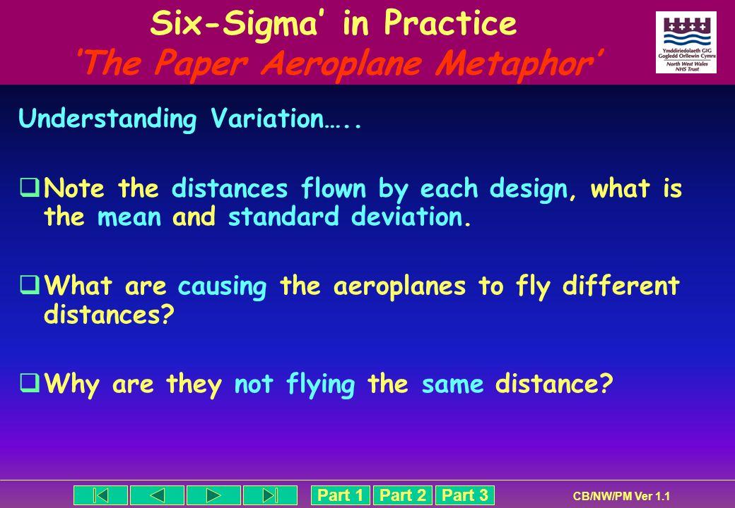Six-Sigma' in Practice 'The Paper Aeroplane Metaphor'