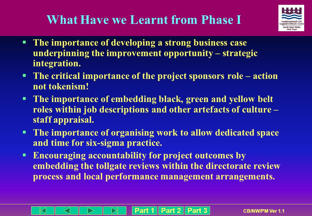 What Have we Learnt from Phase I