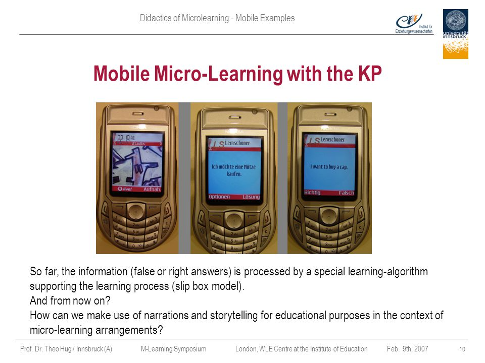 Mobile Micro-Learning with the KP