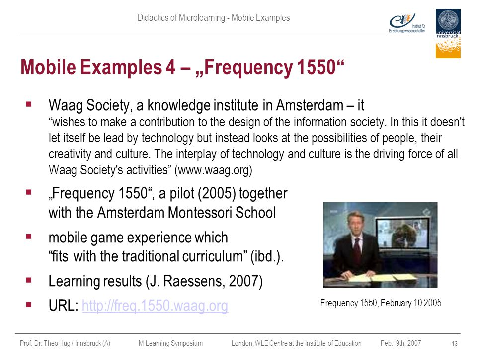 "Mobile Examples 4 – ""Frequency 1550"