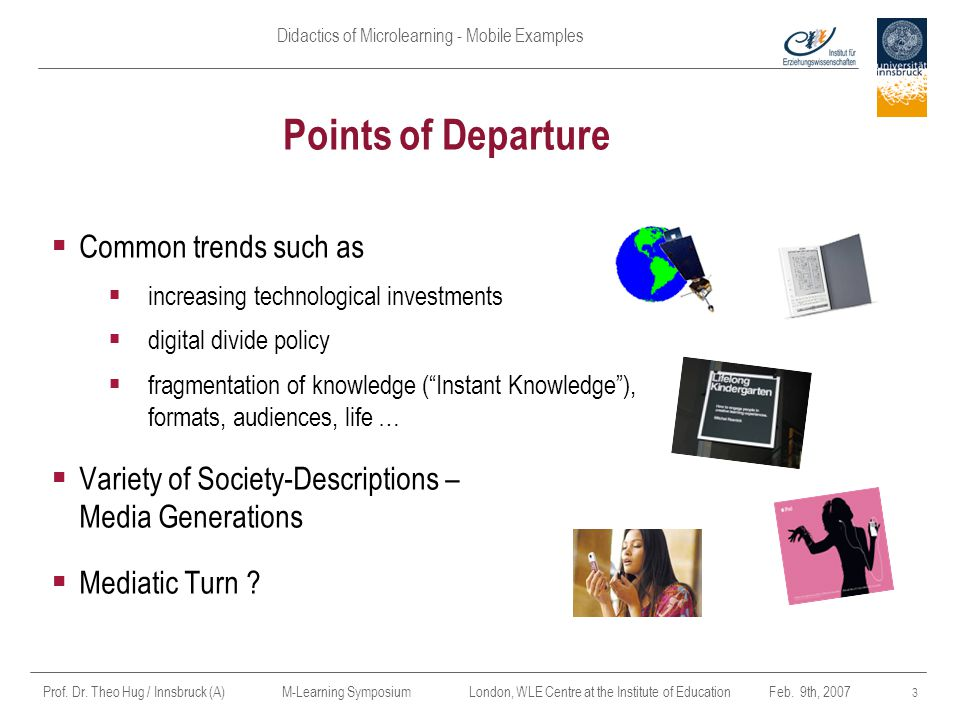 Points of Departure Common trends such as